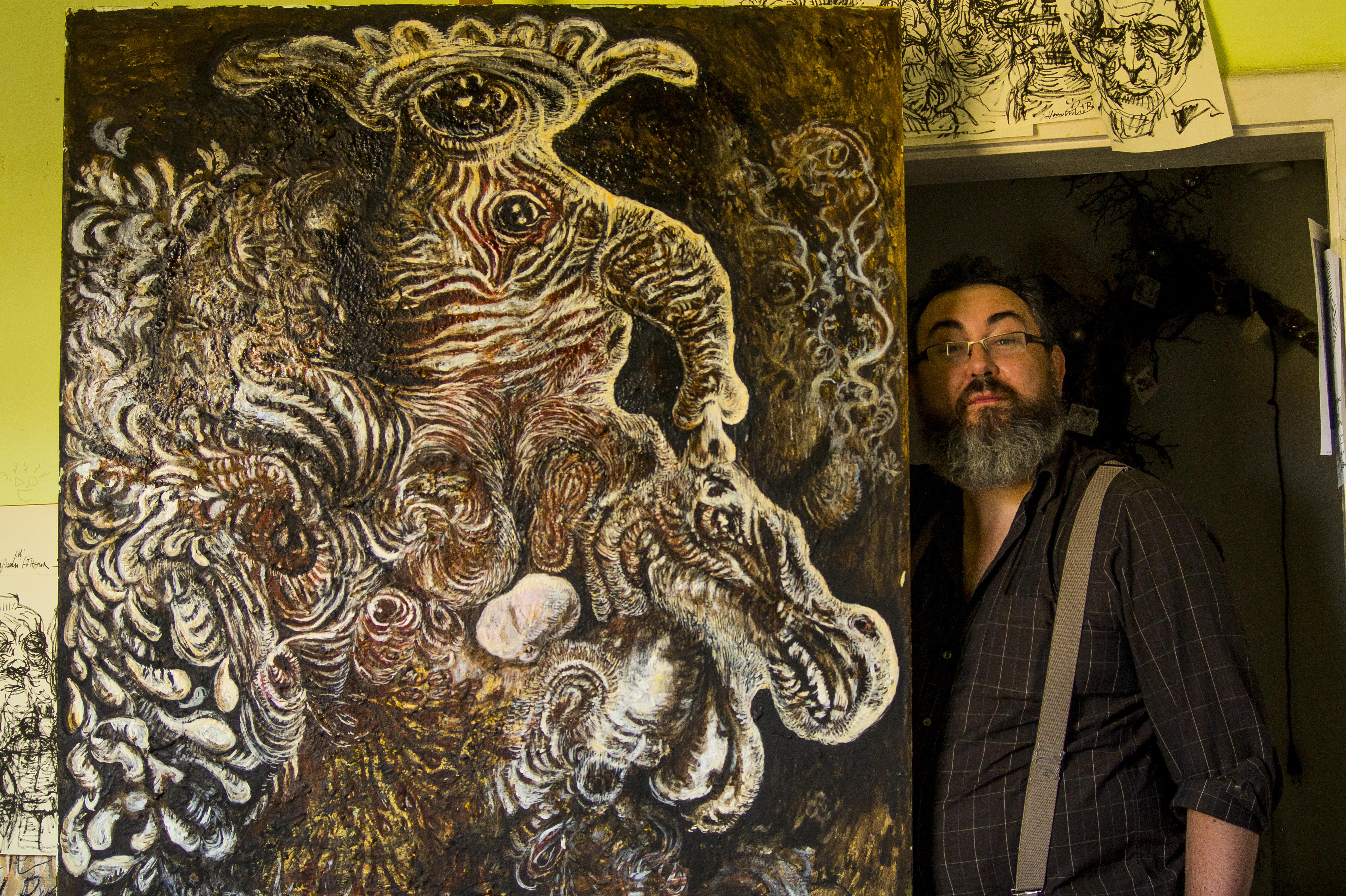 quadro alchemico con Alessandro De Bei